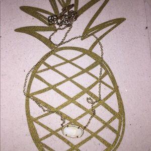 White Kendra Scott Pendant Necklace